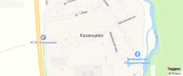 Березовая улица на карте деревни Казанцево с номерами домов