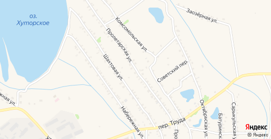 Пролетарская улица в Еманжелинске с номерами домов на карте. Спутник и схема онлайн