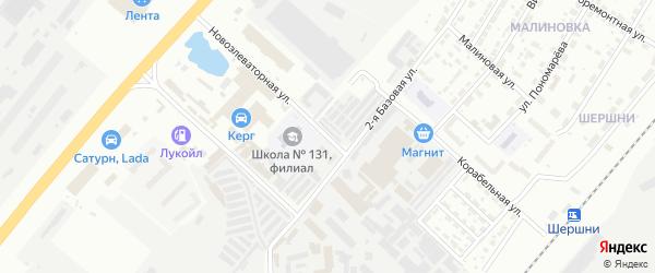 Элеваторная улица на карте Челябинска с номерами домов