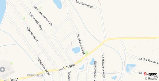Октябрьская улица в Еманжелинске с номерами домов на карте. Спутник и схема онлайн