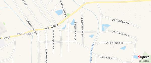 Батуринская улица на карте Еманжелинска с номерами домов