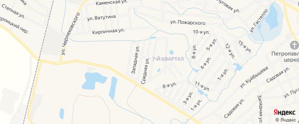 Садовое товарищество Вскрышник на карте Коркино с номерами домов