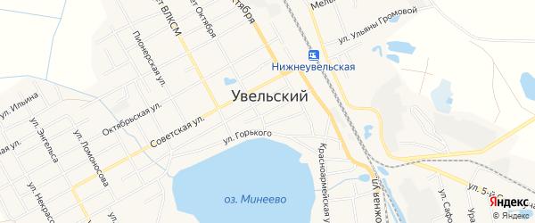 Карта Увельского поселка в Челябинской области с улицами и номерами домов