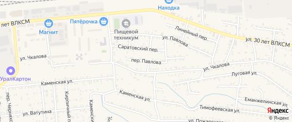 Переулок Павлова на карте Коркино с номерами домов