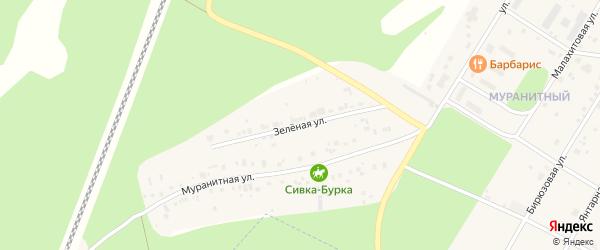 Зеленая улица на карте Заречного с номерами домов