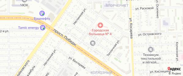 Улица Достоевского на карте Челябинска с номерами домов