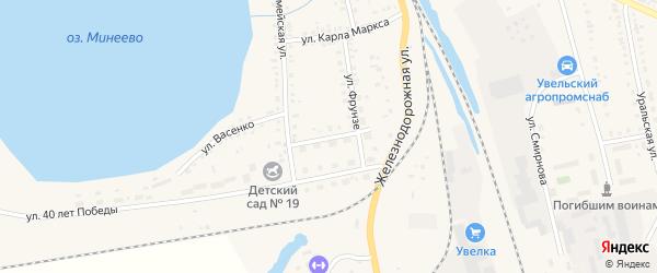 Улица Куйбышева на карте Увельского поселка с номерами домов