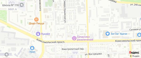 Свинцовый 6-й переулок на карте Челябинска с номерами домов