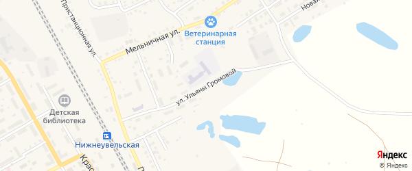 Улица Ульяны Громовой на карте Увельского поселка с номерами домов