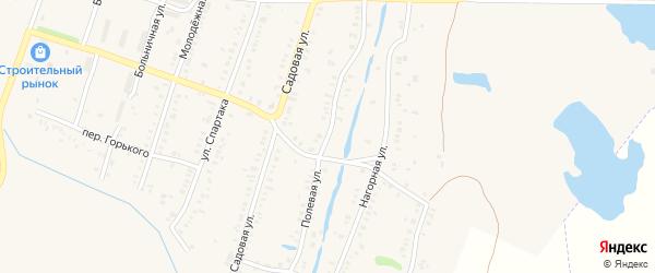 Полевая улица на карте Еманжелинска с номерами домов