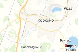 Карта г. Коркино