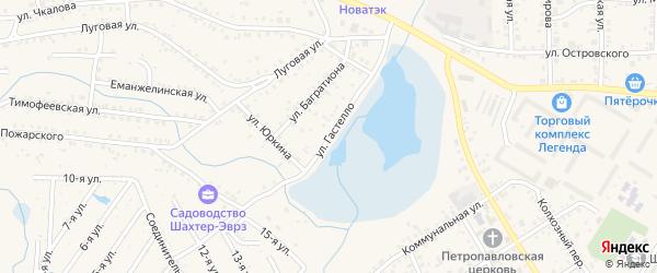 Улица Гастелло на карте Коркино с номерами домов