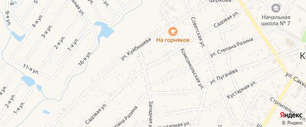 Садовая улица на карте Коркино с номерами домов