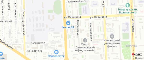 Горшечная улица на карте Челябинска с номерами домов