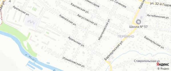 Калужская улица на карте Челябинска с номерами домов