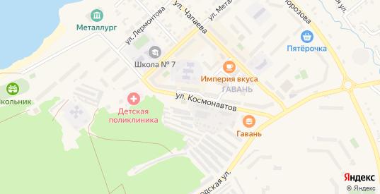 Улица Космонавтов в Реже с номерами домов на карте. Спутник и схема онлайн