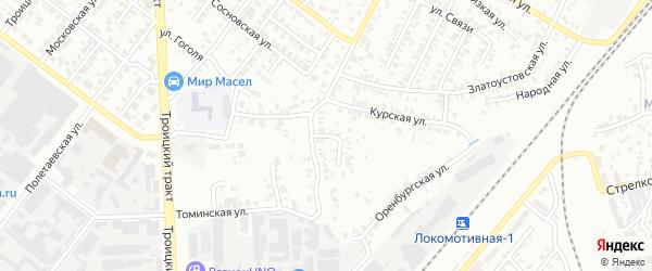 Круглый переулок на карте Челябинска с номерами домов