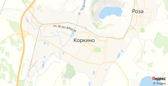 Карта Коркино с улицами и домами подробная. Показать со спутника номера домов онлайн