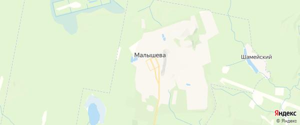 Карта поселка Малышева Свердловской области с районами, улицами и номерами домов