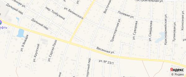Восточная улица на карте садового товарищества Вскрышника с номерами домов