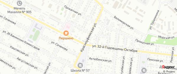Красноуфимская улица на карте Челябинска с номерами домов