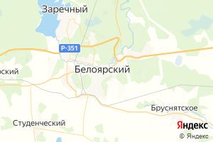 Карта пос. Белоярский Свердловская область