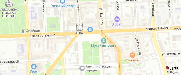 Территория ГСК 13 участок 3 на карте Челябинска с номерами домов