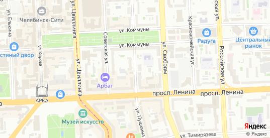 Улица Пушкина в Челябинске с номерами домов на карте. Спутник и схема онлайн