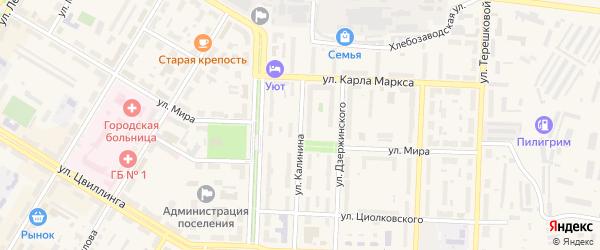 Улица Калинина на карте деревни Дубровки с номерами домов