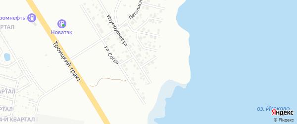 Межозёрный переулок на карте Челябинска с номерами домов