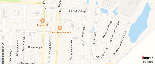 Октябрьский переулок на карте Коркино с номерами домов