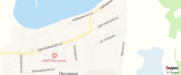 Токовая улица на карте Песчаного села Челябинской области с номерами домов