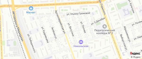 Улица Ватутина на карте Челябинска с номерами домов