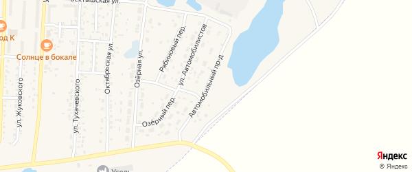 Автомобильный проезд на карте Коркино с номерами домов