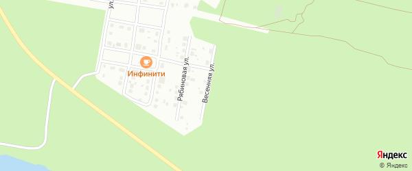 Весенняя улица на карте Заречного с номерами домов