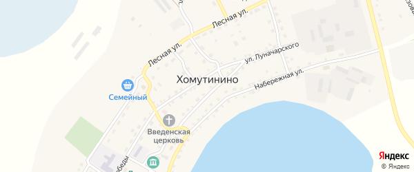 Сосновая улица на карте села Хомутинино с номерами домов