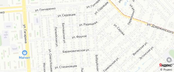 Маршальская улица на карте Челябинска с номерами домов