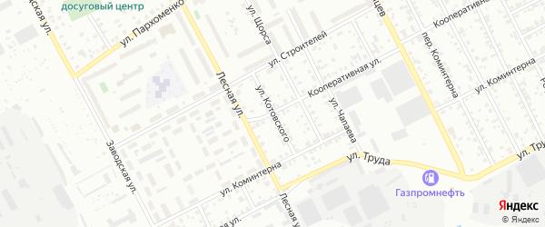 Улица Котовского на карте Асбеста с номерами домов