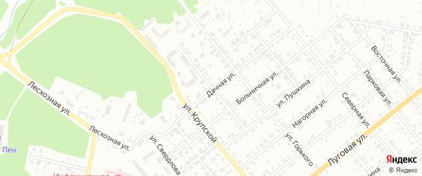 Переулок Пушкина на карте Асбеста с номерами домов