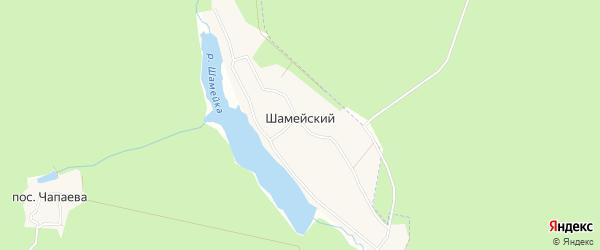 Карта Шамейского поселка в Свердловской области с улицами и номерами домов
