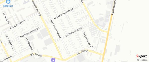 Красноармейский переулок на карте Асбеста с номерами домов