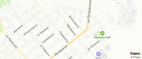 Парковая улица на карте Асбеста с номерами домов