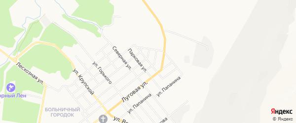 Восточная промзона N4 на карте Асбеста с номерами домов