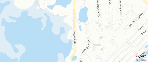 Рудная улица на карте Челябинска с номерами домов