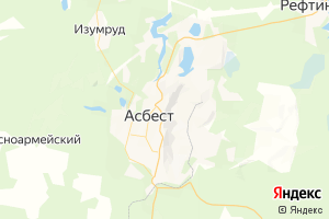 Карта г. Асбест Свердловская область