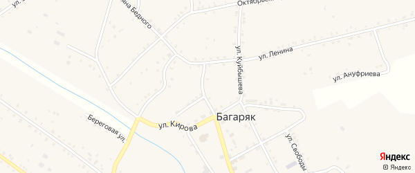 Улица Демьяна Бедного на карте села Багаряка с номерами домов