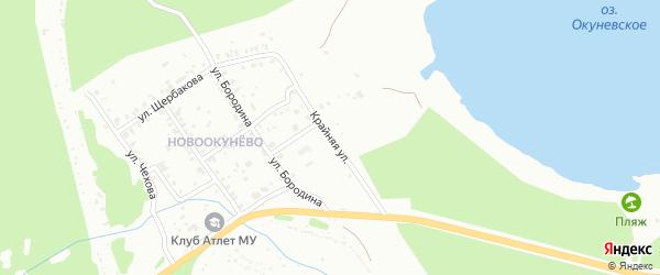 Крайняя улица на карте поселка Ново-Окунево с номерами домов