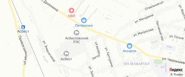 Загородный переулок на карте Асбеста с номерами домов