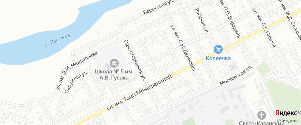 Кольцевая улица на карте Троицка с номерами домов