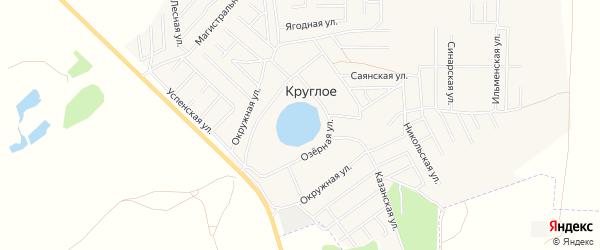 Карта деревни Круглого в Челябинской области с улицами и номерами домов